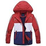 G-Kids Jungen Wasserdicht Jacke Übergangsjacke Regenjacke mit Fleecefütterung Kinder Warm Winddicht Atmungsaktiv Wanderjacke Softshelljacke Outdoorjacke