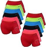 PiriModa 6/12 Pack Kinder Mädchen Pantys Boxer Unterhose Panty Unterwäsche Mikrofaser Boxershorts Slips Schlüpfer 2-16 Jahre 92-170