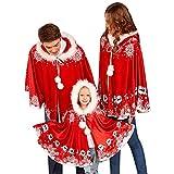Nibesser Weihnachtsfamilienkleidung roter Schal Santa Claus-Karikaturmusterkleidung