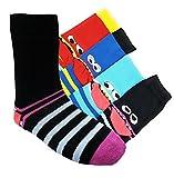 Kinder Socken Kids handgekettelt Spitze ohne Naht 6 Paar für Mädchen oder Jungen weiche Baumwolle bunter Mix Gr. 19-42