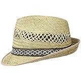 Erntehelfer Strohhut (Sonnenschutz) Damen und Herren  Sonnenhut im Trilby-Look   Hut aus Stroh für den Sommer am Strand oder im Urlaub   verschiedene Größen   Farbe Natur